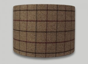 Bamburgh Mulberry Tweed Drum Lampshade