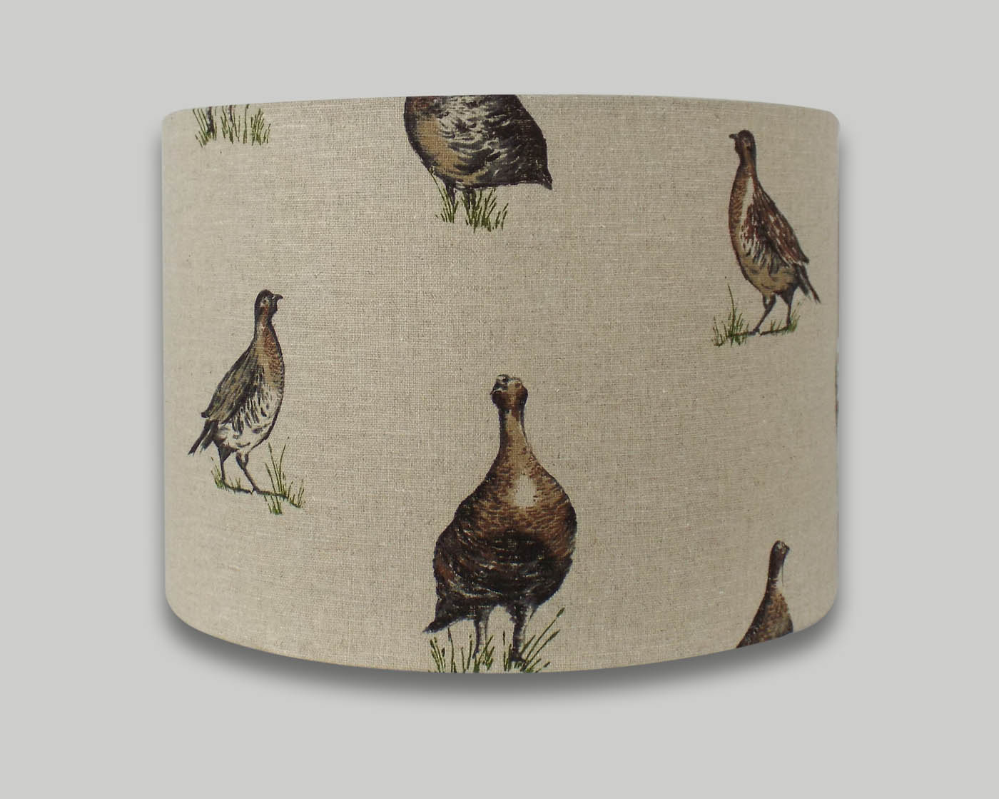 Game Birds Drum Lampshade - THE LAMPSHADE BARN