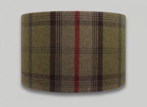 Balmoral Hunter Tartan Check Tweed Drum Lampshade