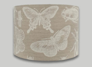 butterfly dragonfly bugs beige drum lampshade lightshade lamp shade