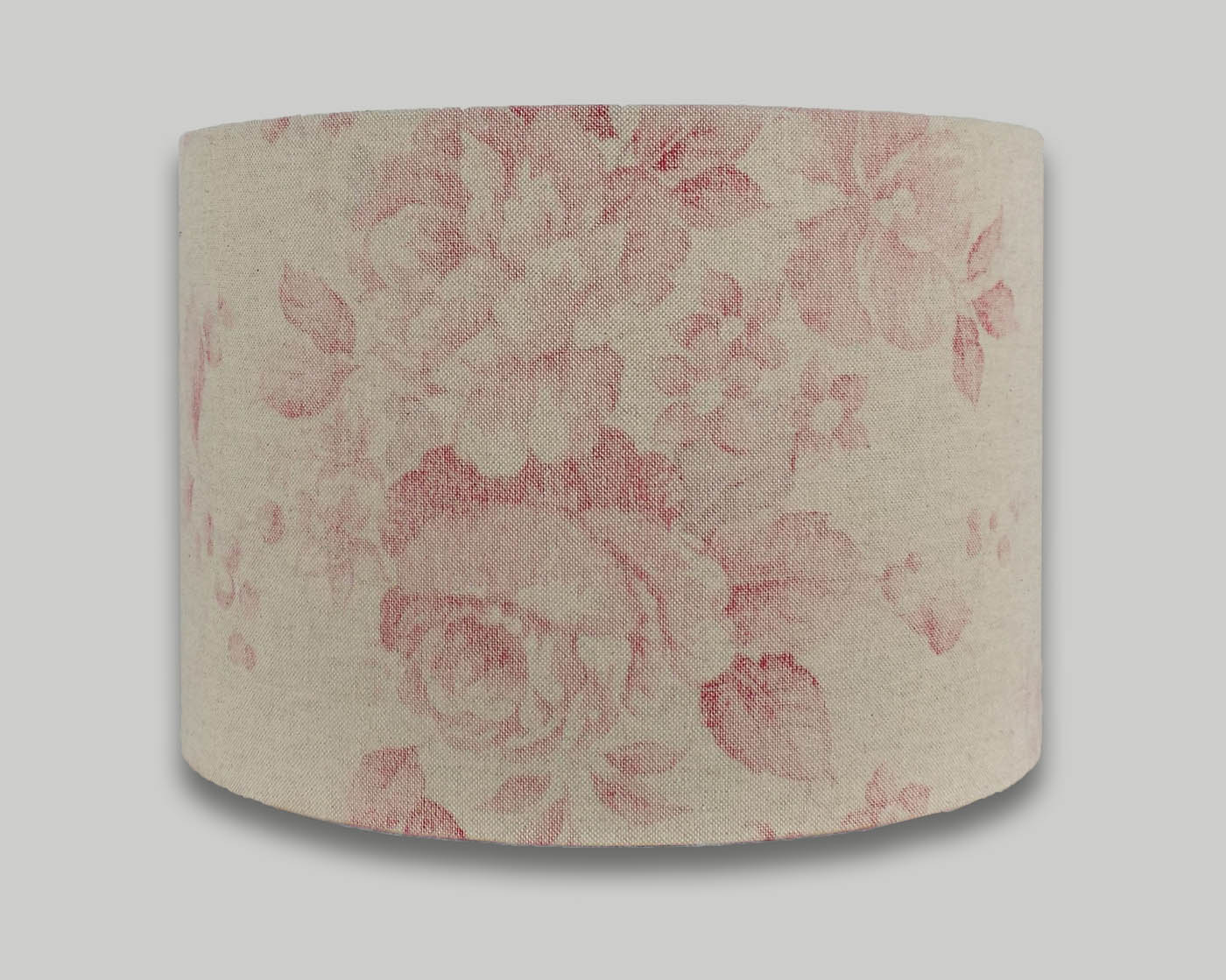 Red faded rose floral drum lampshade the lampshade barn red faded rose floral drum lampshade aloadofball Images