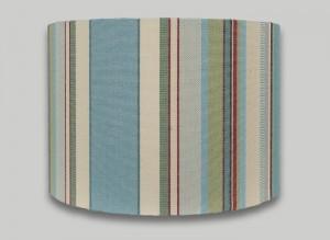 remake stripe sauge blue red green drum lampshade lightshade lamp shade