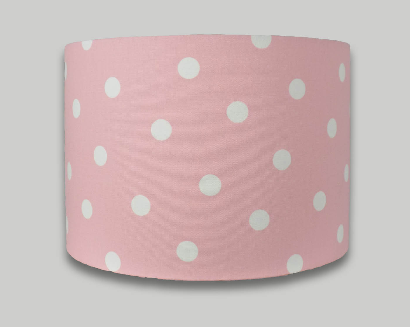 Pink white spot drum lampshade the lampshade barn pink white spot drum lampshade lightshade lamp shade geotapseo Image collections