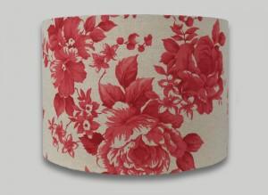 Red Floral Rose Drum Lampshade