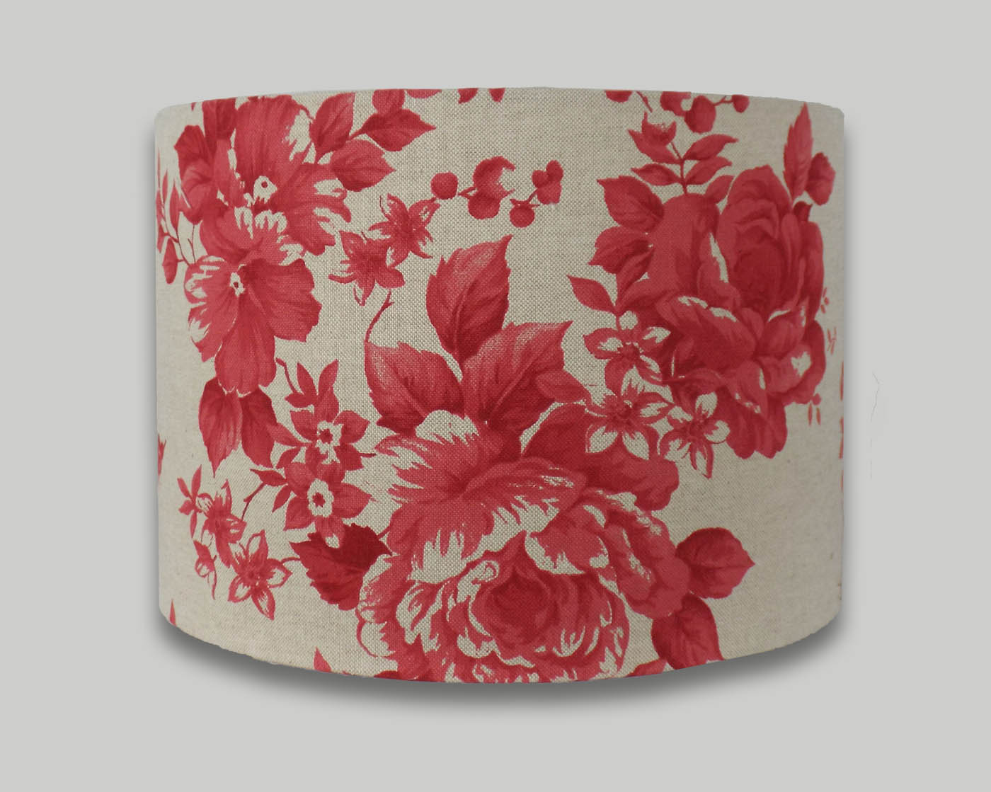 Red floral rose drum lampshade the lampshade barn red floral rose drum lampshade aloadofball Image collections