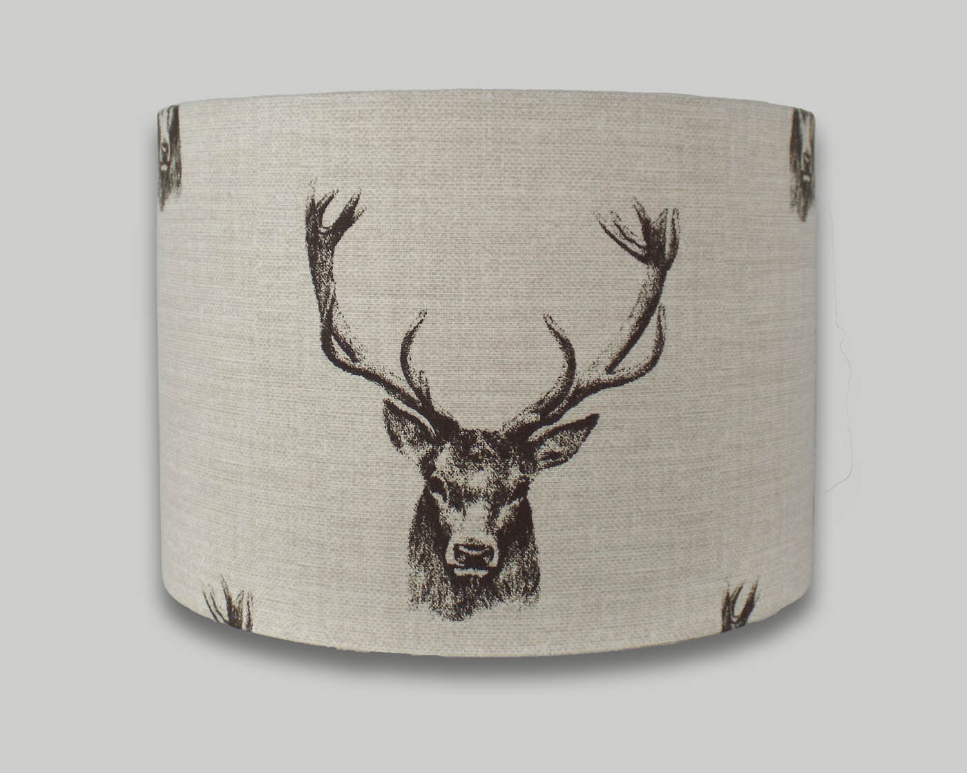 Stag head drum lampshade the lampshade barn stag deer lampshade lightshade lamp shade mozeypictures Gallery