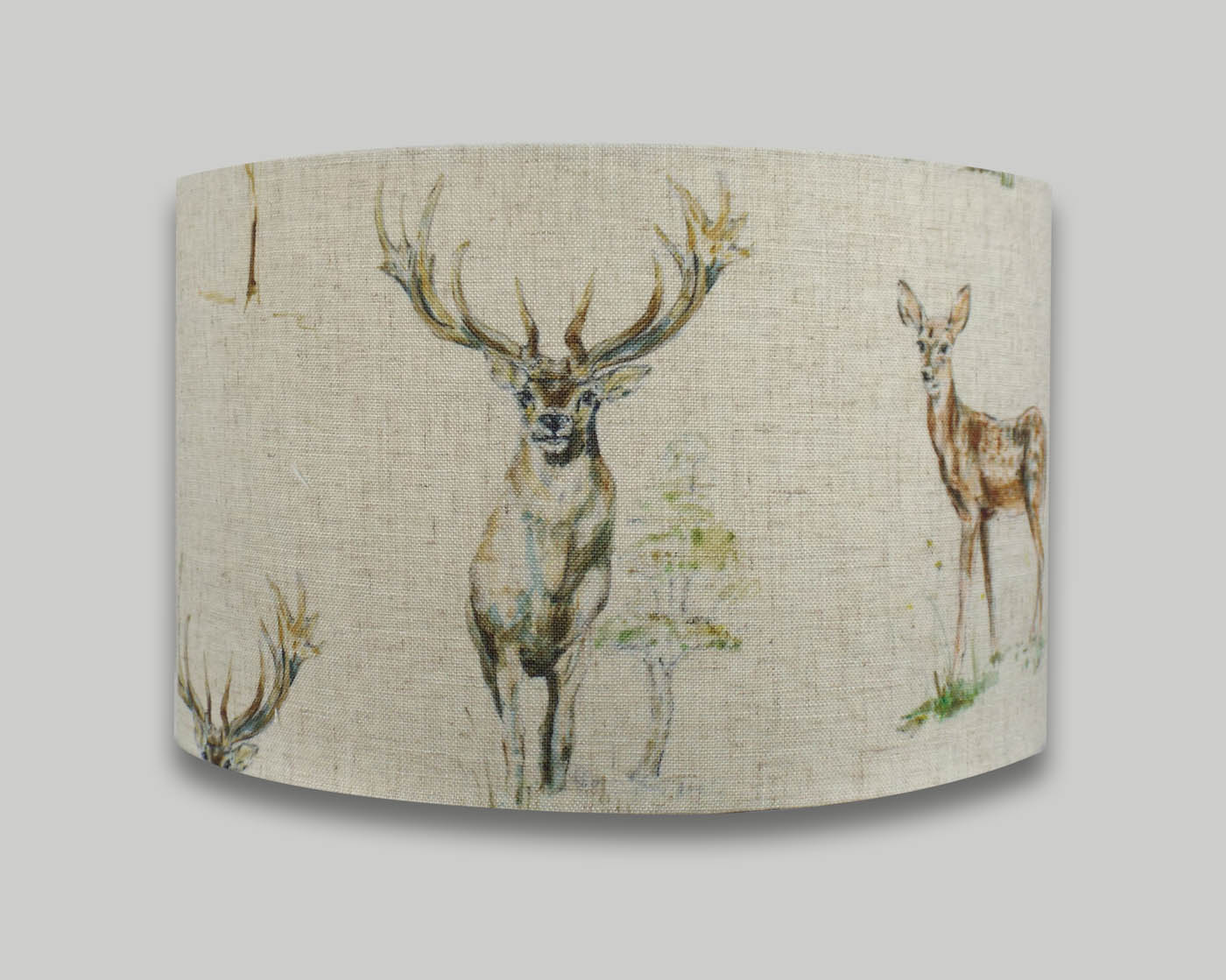 Country Stag Deer Drum Lampshade - THE LAMPSHADE BARN