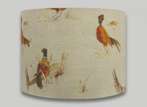 country pheasant drum lampshade lightshade lamp shade