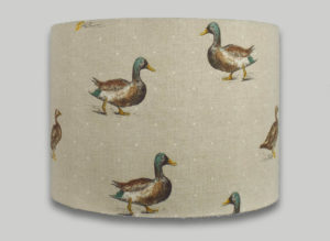 mallard duck drum lampshade lightshade lamp shade