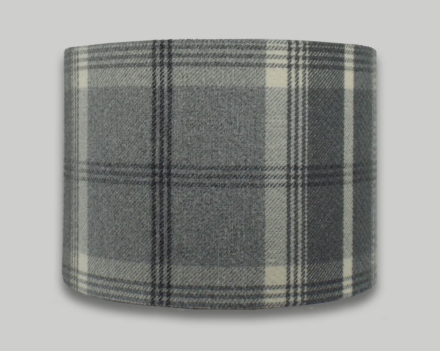 Balmoral dove grey tartan check tweed drum lampshade the balmoral dove grey tartan check tweed drum lampshade aloadofball Choice Image