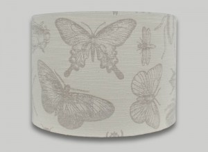 butterfly bugs cream drum lampshade lightshade lamp shade