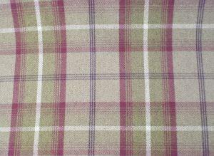 balmoral heather wool effect tweed purple beige fabric