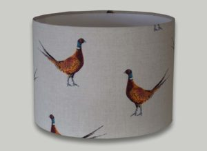 Mr Pheasant drum lampshade