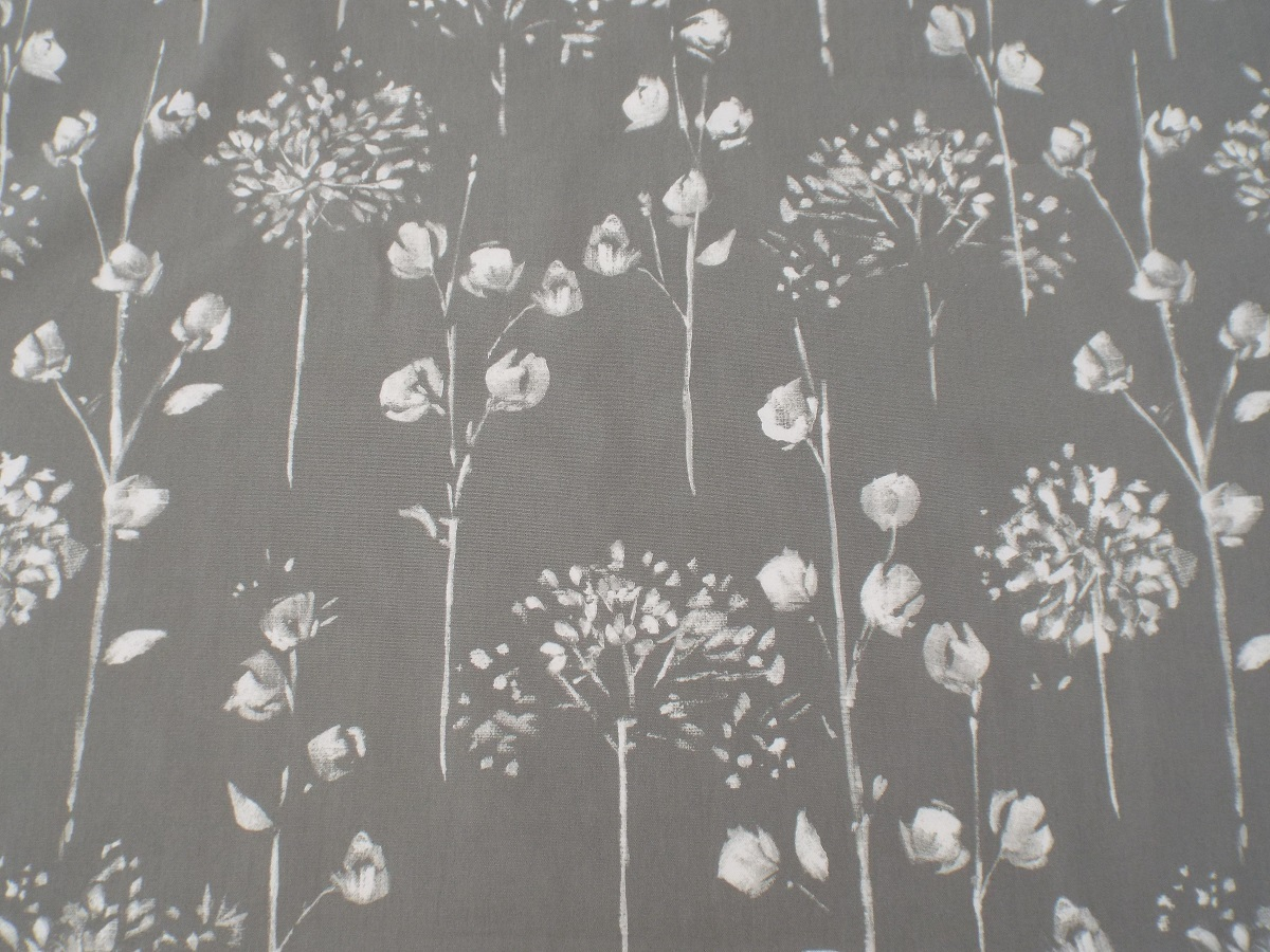 Windsor Grey White Floral Fabric The Lampshade Barn