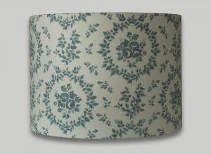Amelie Blue Floral Drum Lampshade