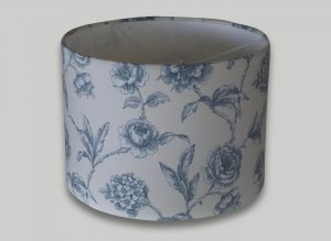 Milton Blue Floral Drum Lampshade