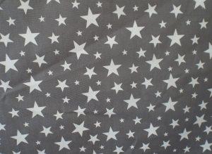 Apollo Dark Grey and White Stars Fabric