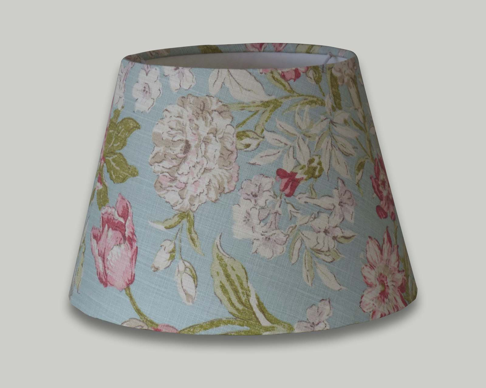 Campagna Duckegg Blue Floral Empire Table Lampshade The Lampshade Barn