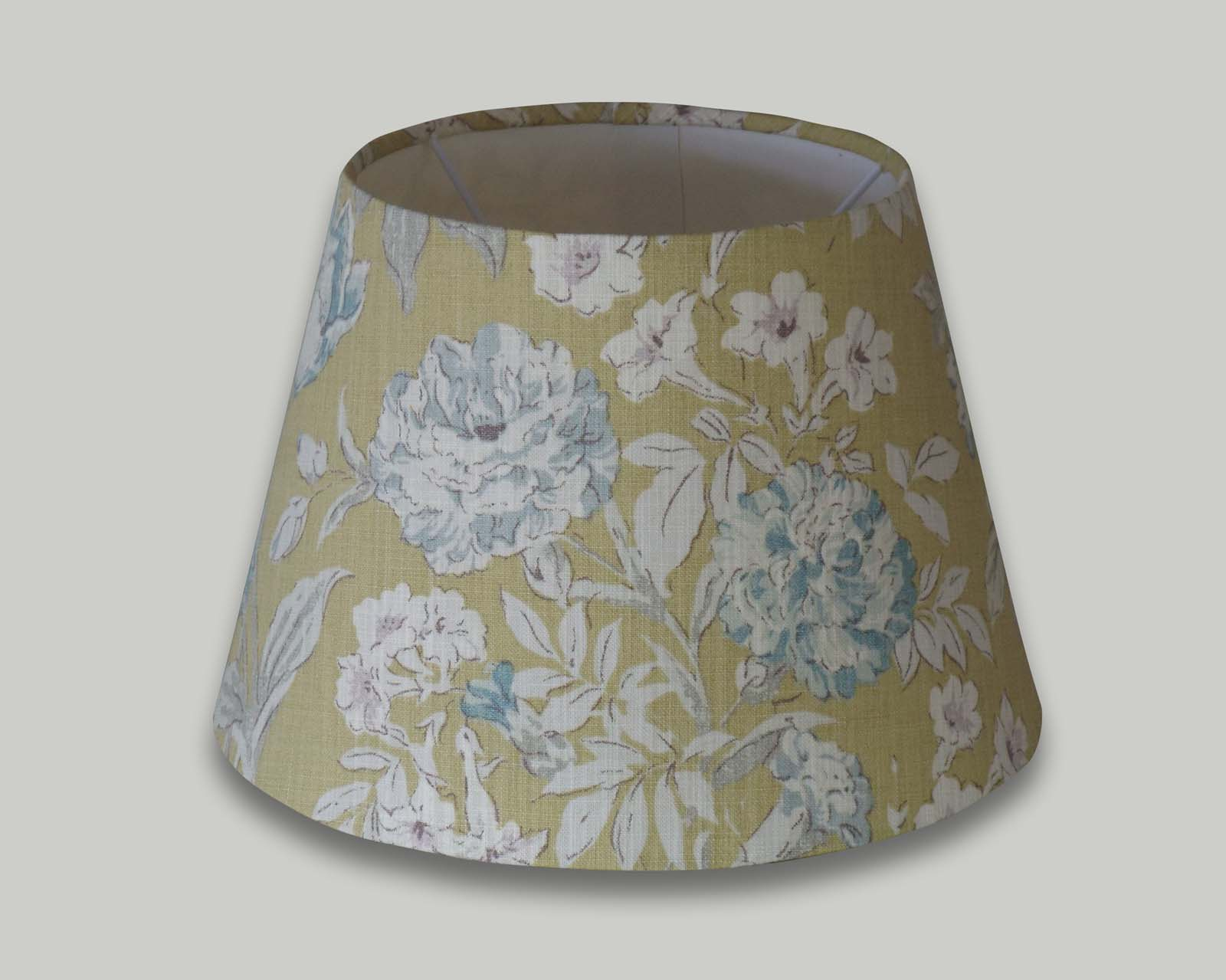 Campagna Ochre Yellow Blue Floral Empire Lampshade The Lampshade Barn