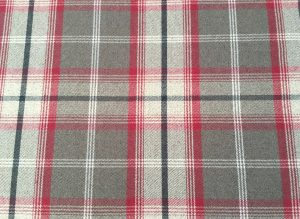 Balmoral Rosso Red Fabric