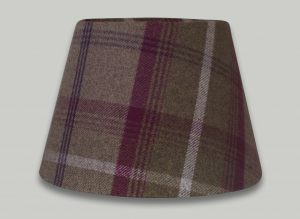 Balmoral Heather Tartan Check Empire Lampshade