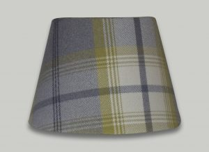 Balmoral Citrus Green Grey Tartan Check Empire Lampshade