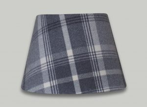 Balmoral Dove Grey Tartan Check Empire Lampshade
