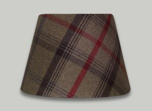 Balmoral Hunter Red Green Tartan Check Empire Lampshade