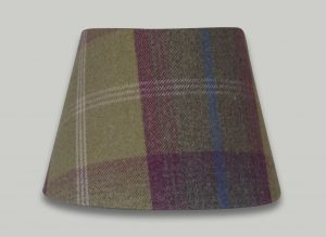 Balmoral Pistachio Green Purple Tartan Check Empire Lampshade