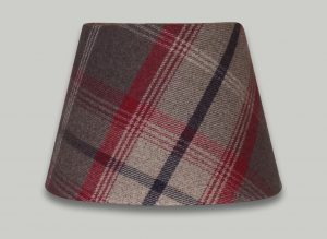 Balmoral Rosso Red Tartan Check Empire Lampshade