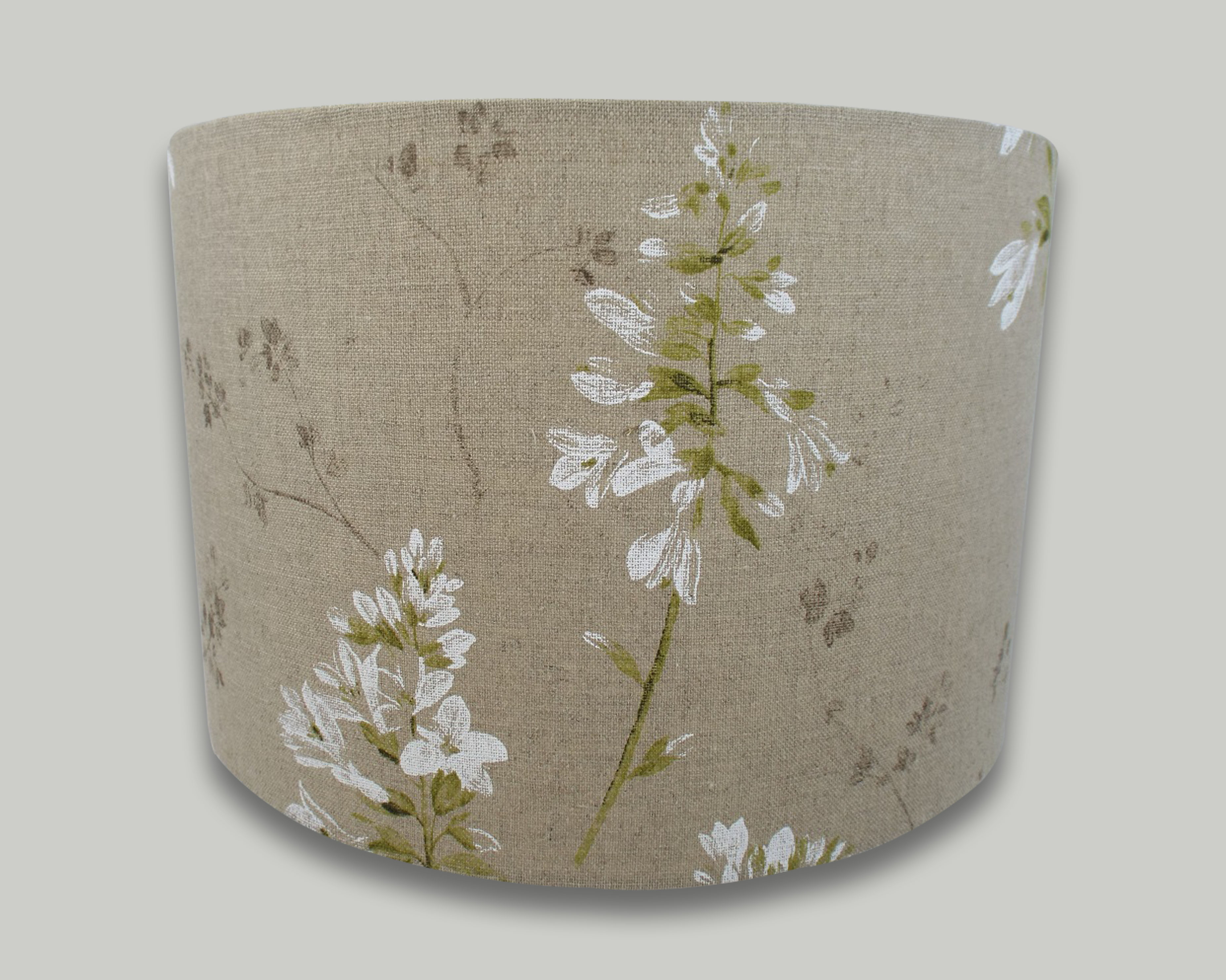 White wild flower drum lampshade the lampshade barn white wild flower drum lampshade aloadofball Gallery