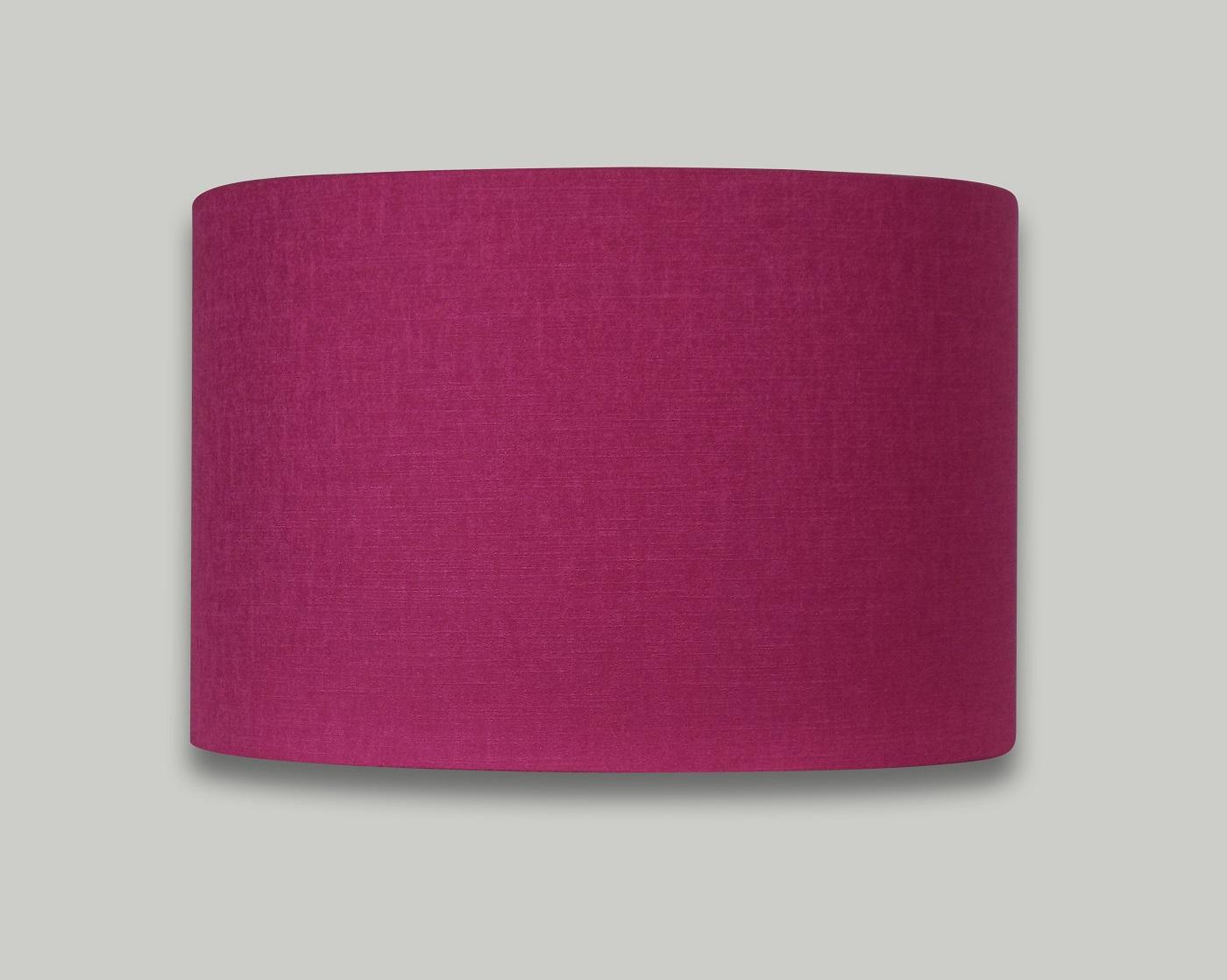 Fresh Carnaby Fuchsia Pink Satin Drum Lampshade - THE LAMPSHADE BARN HR07