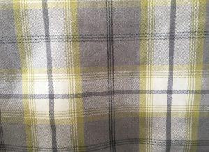Balmoral Citrus Green Grey Tartan Fabric