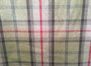 Balmoral Hunter Green Red Tartan Fabric
