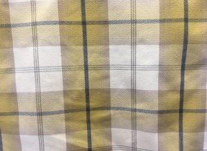 Balmoral Ochre Yellow Grey Fabric