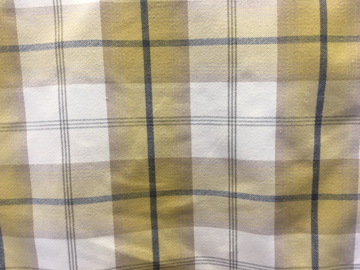 Balmoral Ochre Yellow Grey Fabric - THE LAMPSHADE BARN