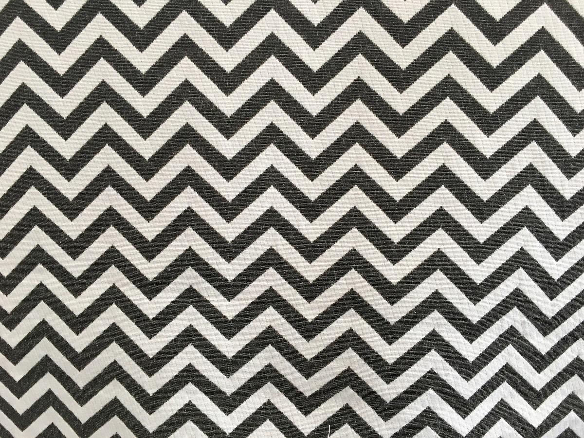 Grey White Chevron Fabric - THE LAMPSHADE BARN