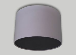 Baby Pink Ceiling Drum Lampshade Dark Grey Diffuser