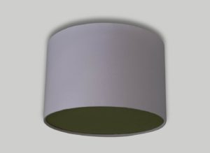 Baby Pink Ceiling Drum Lampshade Green Diffuser