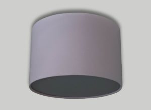 Baby Pink Ceiling Drum Lampshade Light Grey Diffuser