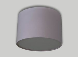 Baby Pink Ceiling Drum Lampshade White Diffuser