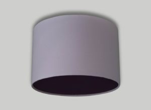 Baby Pink Ceiling Drum Lampshade Black Diffuser