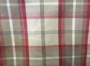 Balmoral Cranberry Beige Red Tartan Fabric