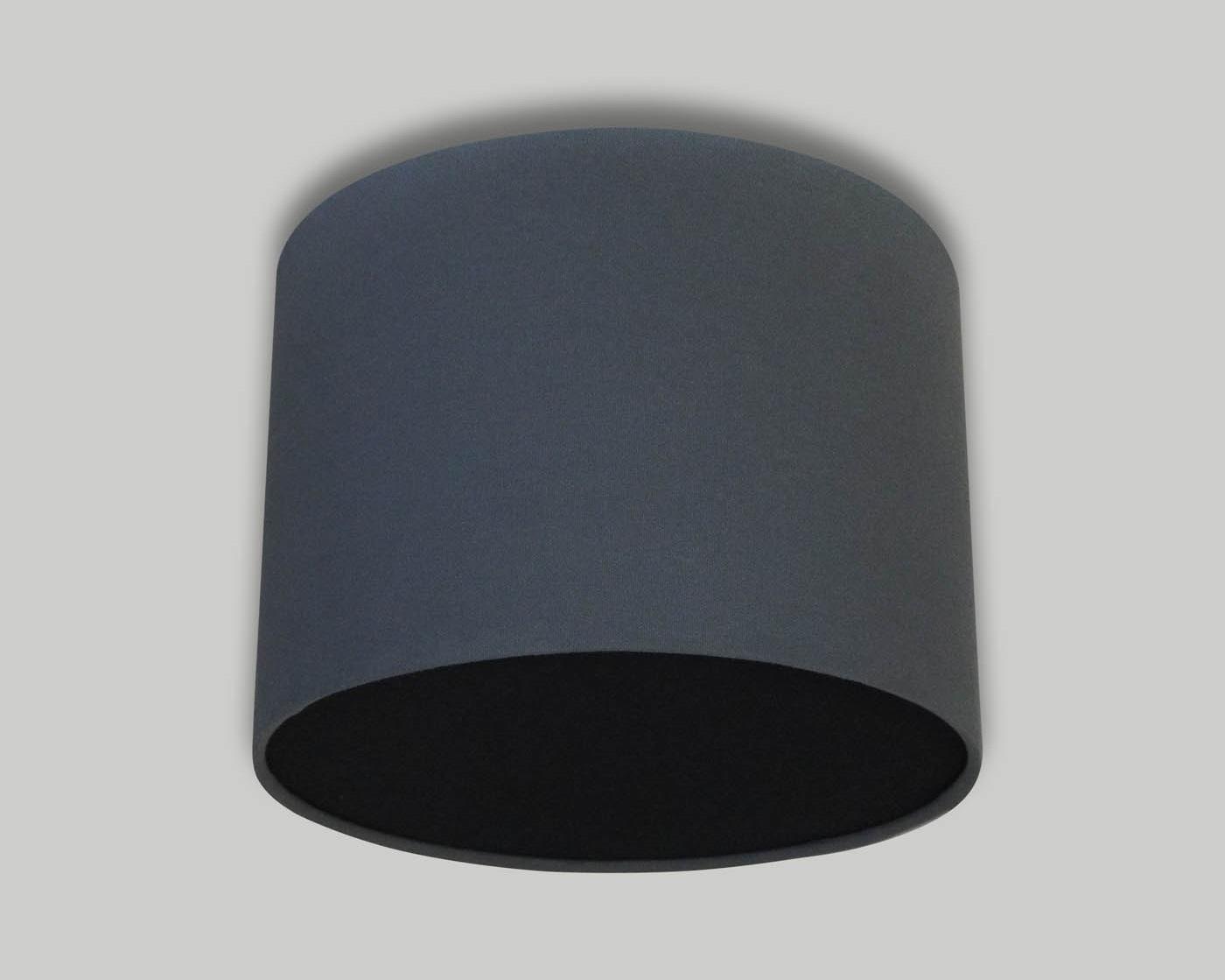 Dark Grey Ceiling Drum Lampshade Black Diffuser The
