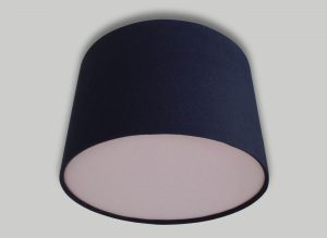 Black Ceiling Drum Lampshade Baby Pink Diffuser