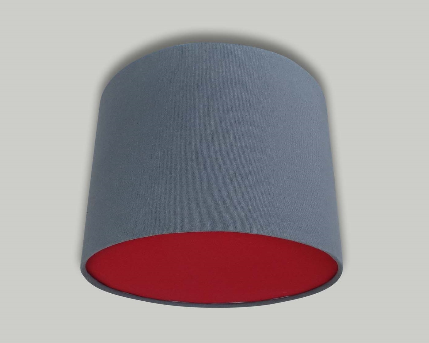 Dark Grey Ceiling Drum Lampshade Red Diffuser The
