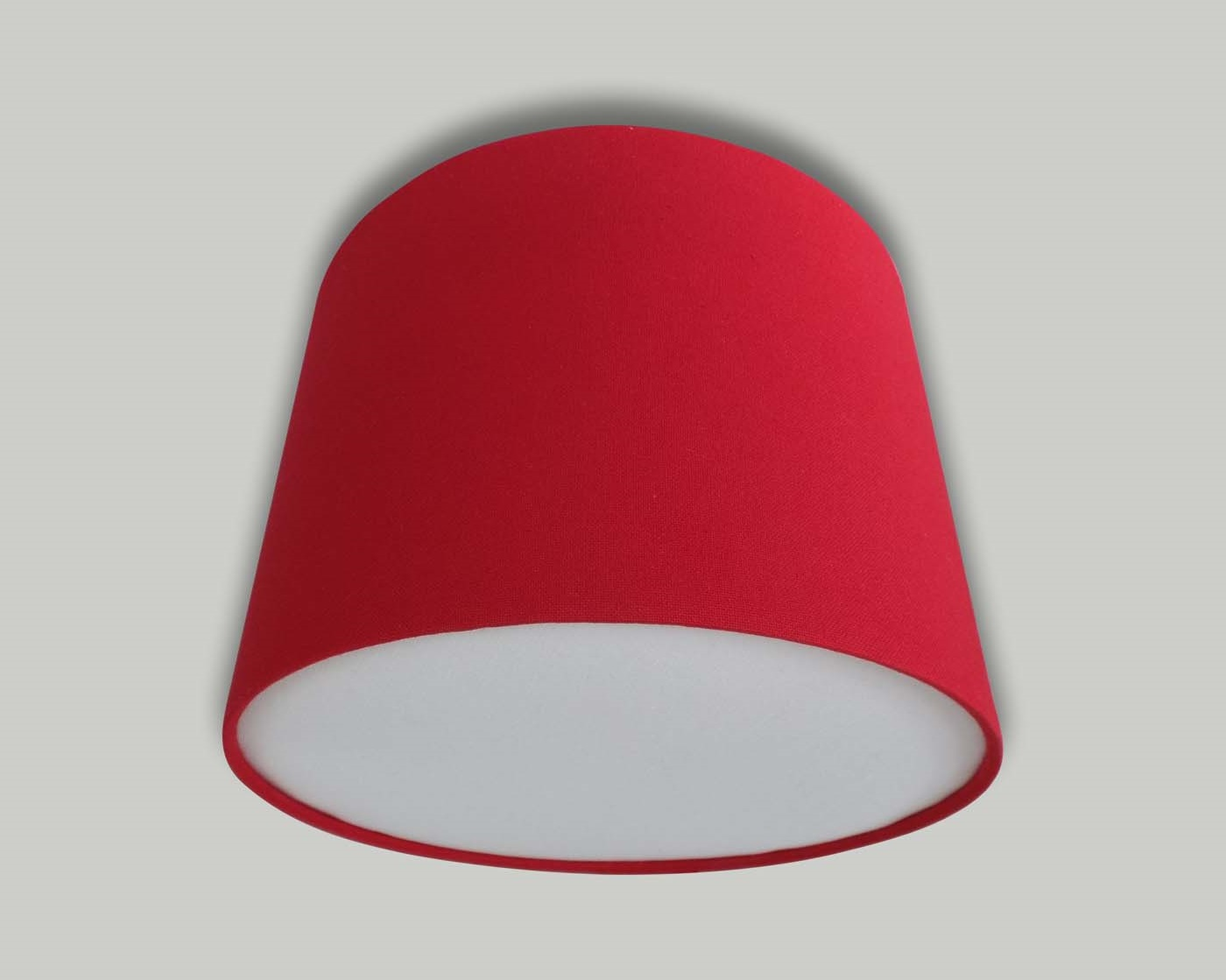 Red ceiling drum lampshade white diffuser the lampshade barn red ceiling drum lampshade white diffuser mozeypictures Image collections