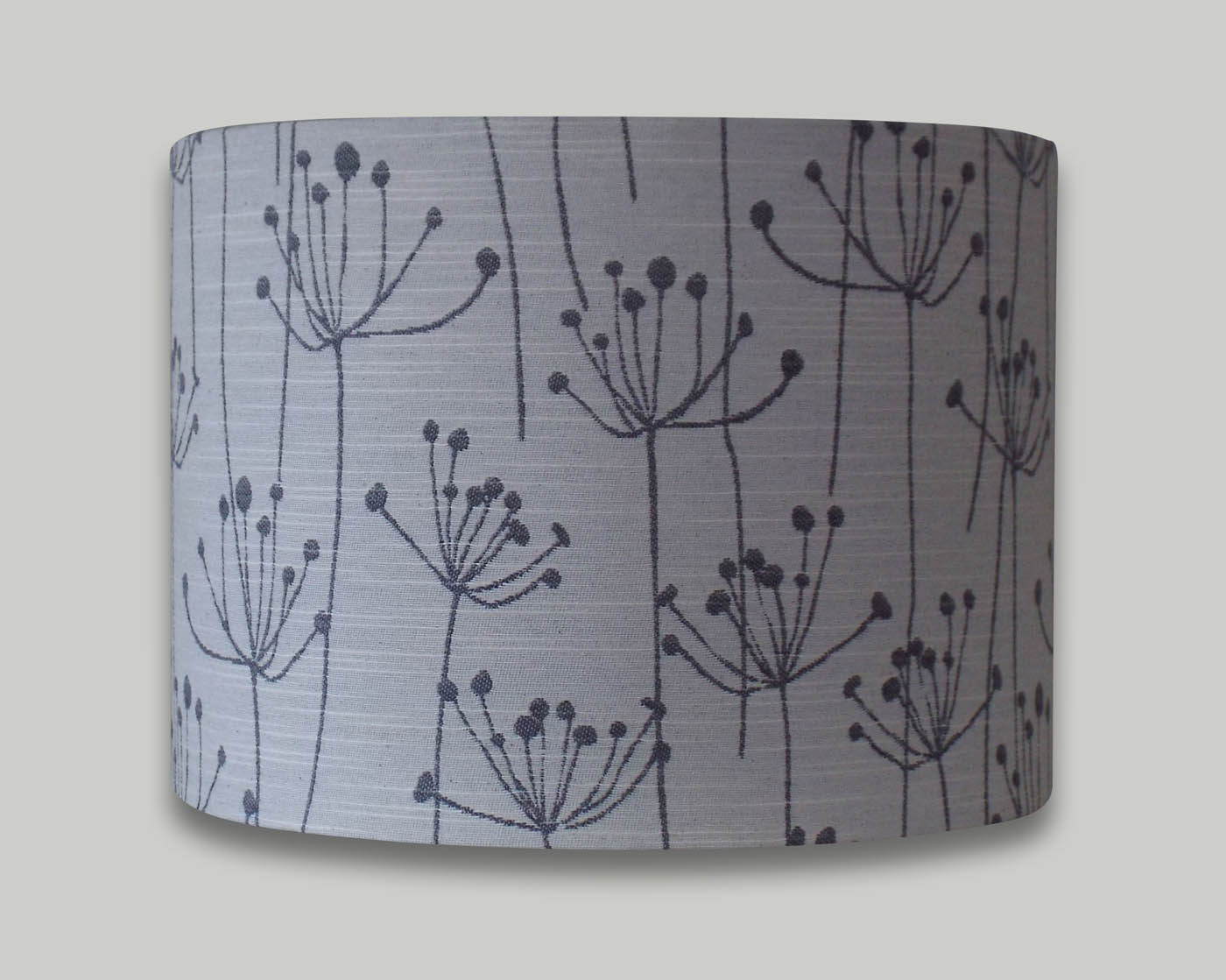 Cream grey cow parsley floral drum lampshade the lampshade barn cream grey cow parsley floral drum lampshade mozeypictures Gallery