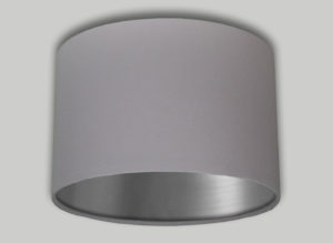 Baby Pink Drum Lampshade Brushed Silver Inner