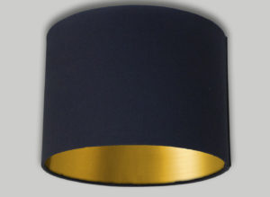 Drum Lampshade with Coloured Inners